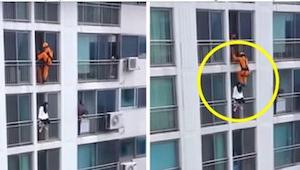 Strażak uratował niedoszłą samobójczynię w dość nietypowy, ale jakże skuteczny s