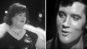 Musicie posłuchać tego zestawienia wykonania Elvisa Presleya i Susan Boyle. Mamy
