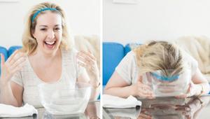 Coraz więcej kobiet zanurza twarz w wodzie gazowanej na 30 sekund. Dowiedz się d
