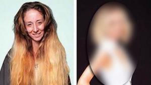 Kobieta poprosiła o nową fryzurę na wesele. Po 7 godzinach w salonie, jej transf