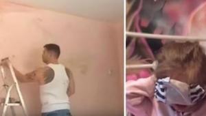Ojciec zdecydował się przemalować pokój córeczki - kiedy zobaczyła co zrobił był