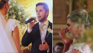To jak ten pan młody zaśpiewał Hallelujah podczas swojego ślubu zachwyciło inter