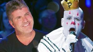 Występ tego śpiewającego klauna doprowadził publiczność do łez, a sędziów do owa