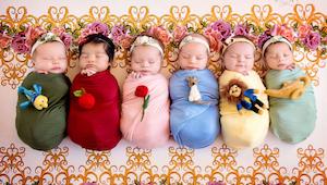 Fotograf robi zdjęcia noworodkom przebranym za księżniczki Disneya. Internet osz