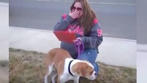 Rodzina, która miała adoptować psa nie pojawiła się. Kiedy kobieta odkryła powód