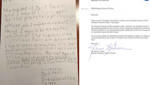 List 9-latka do NASA zdobył serca internautów. Najlepsze, że Agencja Kosmiczna m