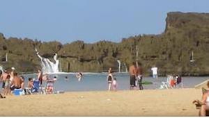 To, co się stało na tej plaży, zapiera dech w piersi!