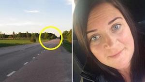 Kobieta jechała autostradą, kiedy nagle otoczyły ją inne samochody. Po chwili zr