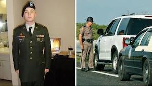 Młody weteran wojenny nie wiedział czemu został zatrzymany przez policję. Kiedy