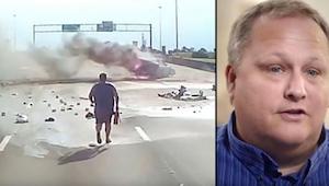 Kierowca ciężarówki zauważył przerażający wypadek i pospieszył na pomoc, to co n