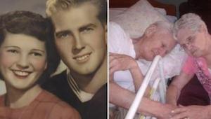 Mężczyzna zmarł trzymając ukochaną żonę za rękę, kiedy ich córka spojrzała na ma