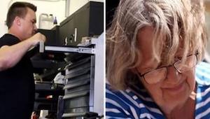 Sparaliżowana kobieta zakradła się do garażu, w którym jej mąż spędzał podejrzan