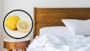 Dowiedz się co się stanie, gdy położysz koło łóżka połówkę cytryny