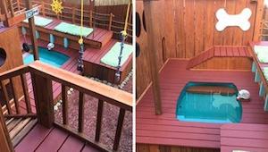 Mężczyzna spędził dwa lata na budowaniu wyjątkowego placu zabaw, zobaczcie dla k