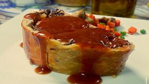 Rolada z mięsem i grzybami