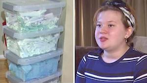 Kiedy jej matka odkryła, że nastolatka zbiera tampony nie wiedziała co myśleć. W