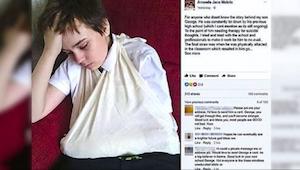 Uczniowie codziennie znęcali się nad niepełnosprawnym chłopcem. Kiedy jego matka