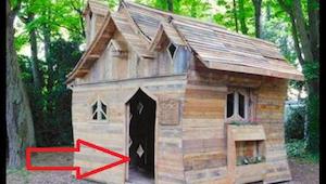 Artysta zbudował uroczą chatkę z drewnianych palet - wygląda jak z bajki!