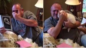 Żona i córka podarowały mu na urodziny prezent, który doprowadził go do łez.