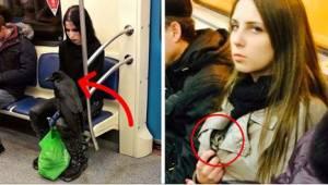 21 najdziwniejszych osób, jakie można spotkać w metrze. Numer 11 zdecydowanie zd