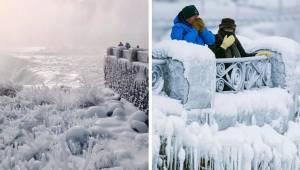 W USA jest tak zimno, że zamarzł nawet wodospad Niagara. Teraz wszystko wygląda