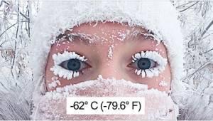 Termometr wskazał -62 stopnie Celsjusza w najzimniejszej wiosce świata. Zdjęcia