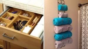 12 śmiesznie sprytnych pomysłów na przechowywanie rzeczy w łazience.