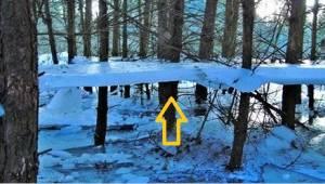 W polskiej miejscowości odkryto rzadkie zjawisko lewitującego lodu!