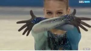 Młodziutka, rosyjska łyżwiarka figurowa zaskoczyła jury skokiem, którego jeszcze