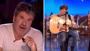 Tata wraz z synem śpiewają piosenkę która porusza wszystkich do łez. Simon Cowel
