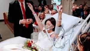 Kobieta z rakiem bierze ślub w szpitalu. 18 godzin później jej mąż patrzy w jej