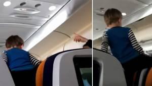 Trzyletni chłopiec zachowuje się okropnie i wydziera się przez całe 8 godzin lot