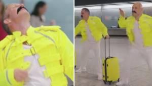 Wspaniały hołd złożony przez personel lotniska dla Freddiego Mercurego z okazji