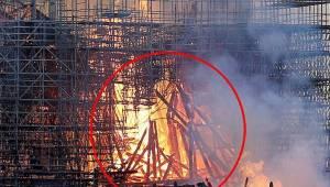 Kobieta twierdzi, że widziała postać Jezusa Chrystusa wśród płomieni katedry Not