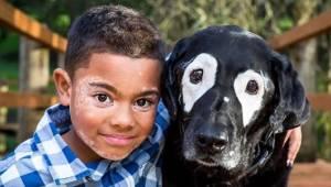 8-letni chłopiec odzyskuje pewność siebie dzięki psu, który również cierpi na bi