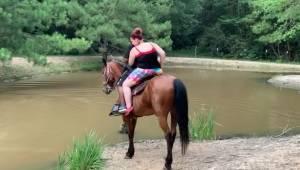 Koń miał dość noszenia turystów z nadwagą. To co nagrała kamera rozbawi każdego