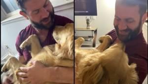 Mężczyzna zaśpiewał swojemu psu kołysankę. To jak zareagował piesek rozczuli każ